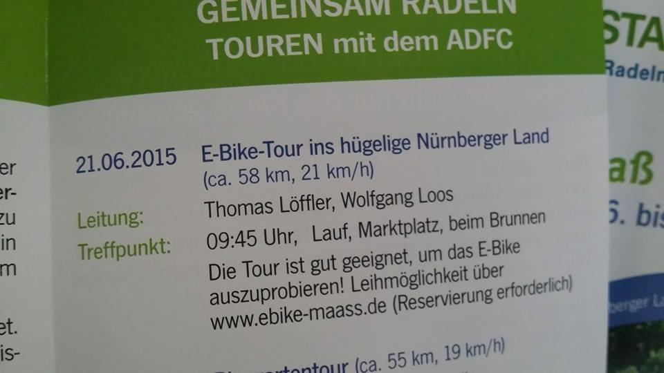 Rückblick:  1. eBike Tour in das hügelige Nürnberger Land 7