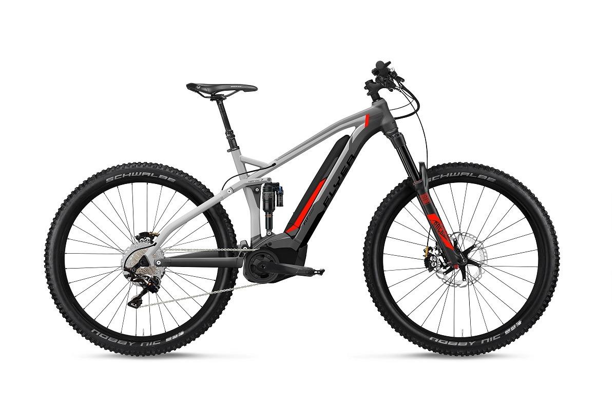 Flyer Uproc 7 Mountainbike MTB eMTB grau rot matt