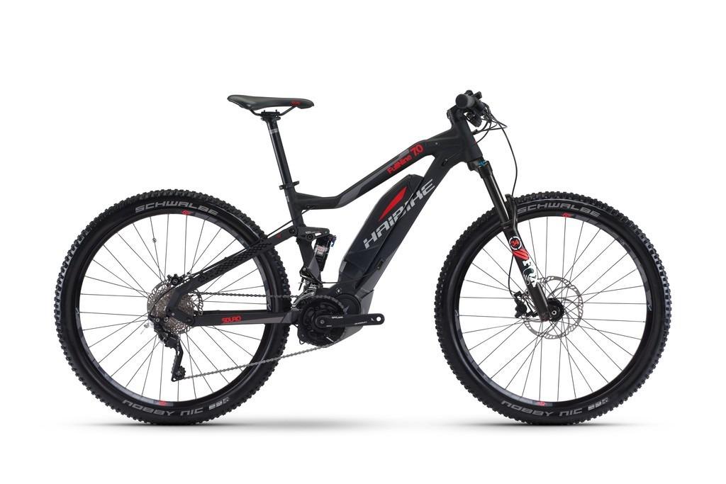Haibike SDURO FullNine 7.0 29 Zoll MTB Mountainbike eMTB schwarz-rot matt vollgefedert Fully