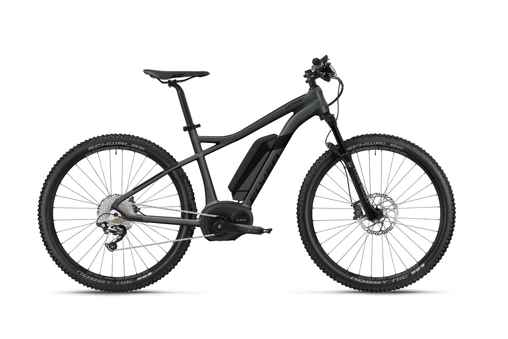 Flyer_Uproc1_2018_E-MTB_Mountain_E-Bike_Hardtail_graphitgrau_schwarz_Anfaenger_stabil_handlich