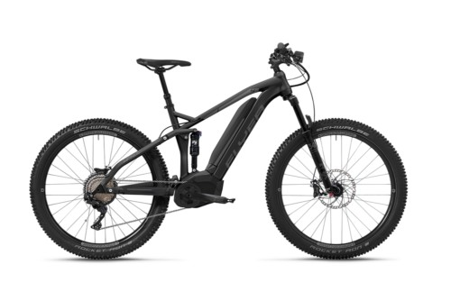 Flyer_Uproc4_2018_schwarz_graphitsilber_Vollfederung_FIT_E-MTB_E-Bike_Mountain_E-Fully_Steigfaehigkeit