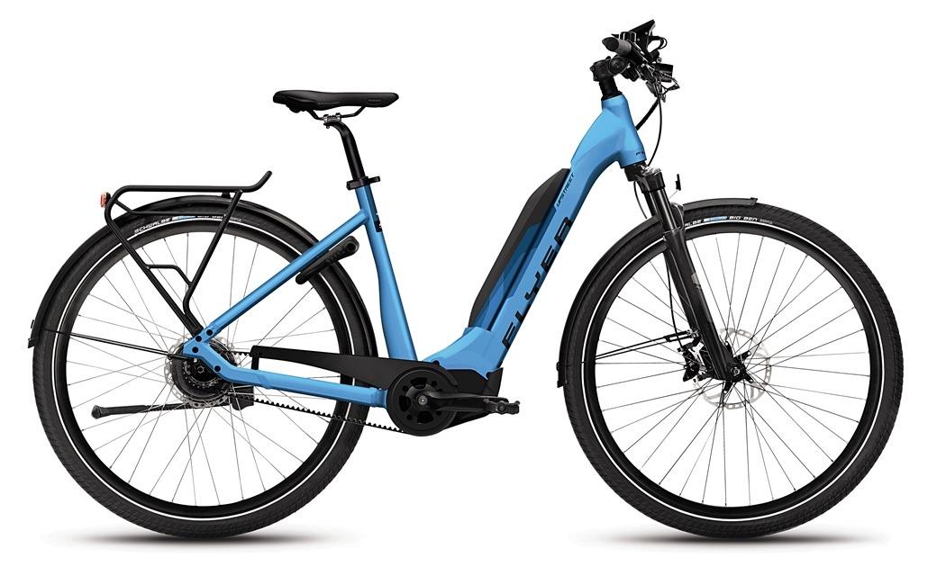 Flyer_Upstreet5_2018_neu_FIT_E-Bike_Elektrofahrrad_Alltag_Komfort_modern_blau_Tiefeinsteiger