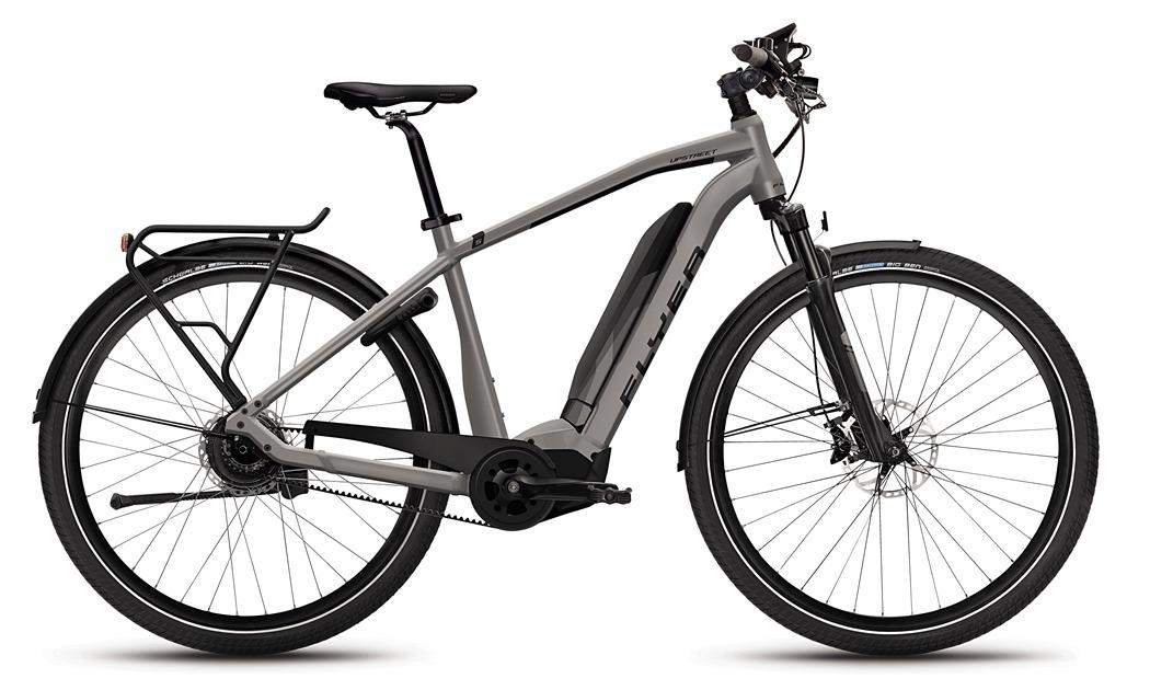 Flyer_Upstreet5_2018_neu_FIT_E-Bike_Elektrofahrrad_Alltag_Komfort_modern_grau_Herrenrahmen