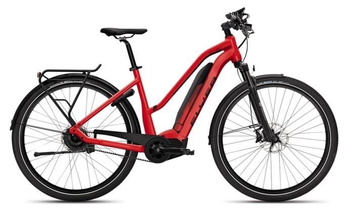 Flyer_Upstreet5_2018_neu_FIT_E-Bike_Elektrofahrrad_Alltag_Komfort_modern_rot_Trapezrahmen