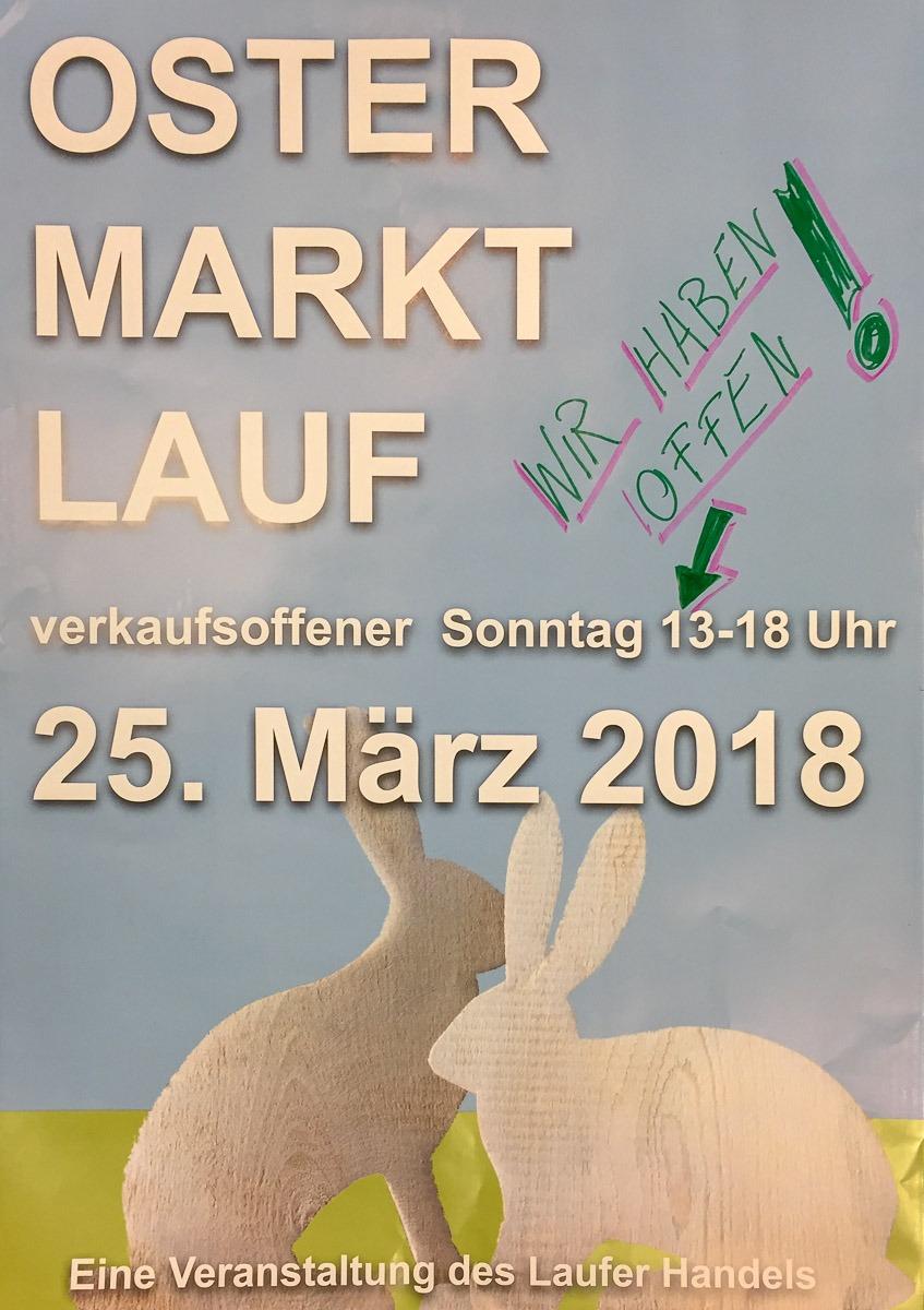 Verkaufsoffener Sonntag 25.03.2018 in Lauf a.d.Pegnitz