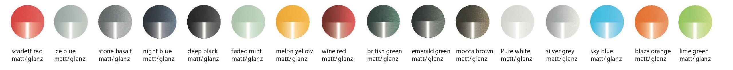 VeloDeVille Farben